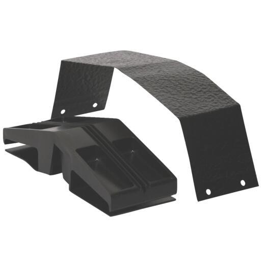 Air Vent Black Ridge Vent Connector Plug and Strap