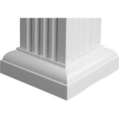 Crown Column 6 In. White Aluminum Standard Cap/Base