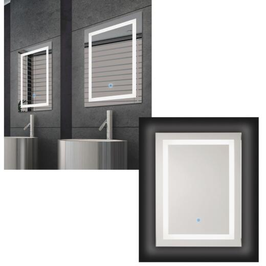 Renin Portofino 23-5/8 In. W. x 31-1/2 In. H. Polished Edge Backlit Wall Mirror