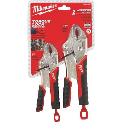 Milwaukee Torque Lock Overmold Grip Locking Pliers Set (2-Piece)