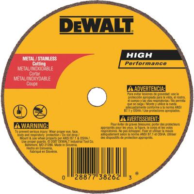 DeWalt HP Type 1 4 In. x 1/16 In. x 5/8 In. Metal/Stainless Cut-Off Wheel