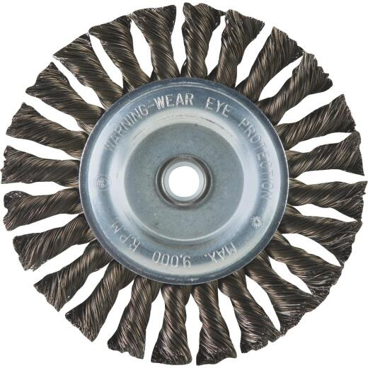 Weiler Vortec 6 In. Twisted, Coarse to 1/2 In. Bench Grinder Wire Wheel