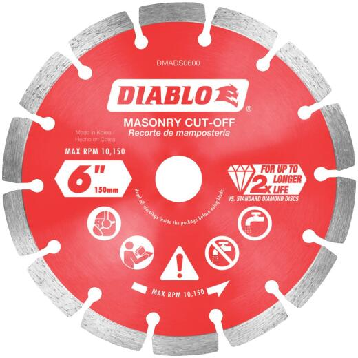 Diablo 6 In. Segmented Rim Dry/Wet Cut Diamond Blade