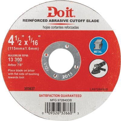 Do it Type 1 4-1/2 In. x 1/16 In. x 7/8 In. Metal Cut-Off Wheel
