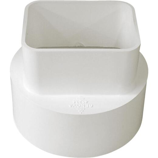 IPEX Canplas 2 In. x 3 In. x 4 In. PVC Downspout Adapter