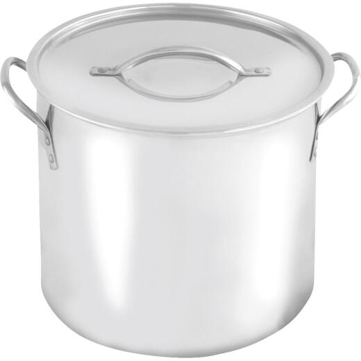 McSunley 8 Qt. Polished Stainless Steel Stockpot