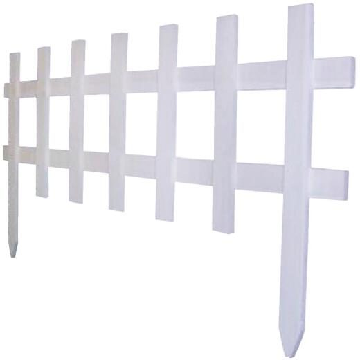 Greenes Fence 18 In. H x 3 Ft. L Wood Decorative Border Fence