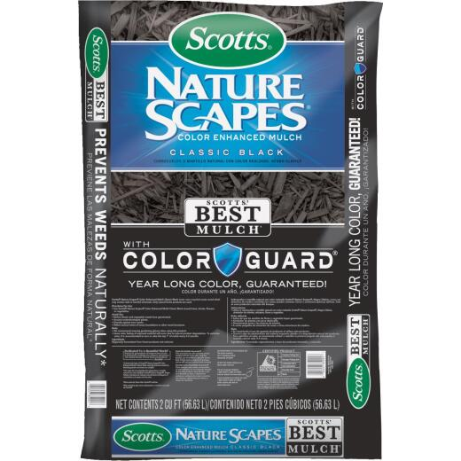 Scotts Naturescapes 2 Cu. Ft. Classic Black Shredded Hardwood Mulch