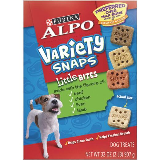 Alpo Variety Snaps Assorted Flavor Crunchy Dog Treat, 32 Oz.