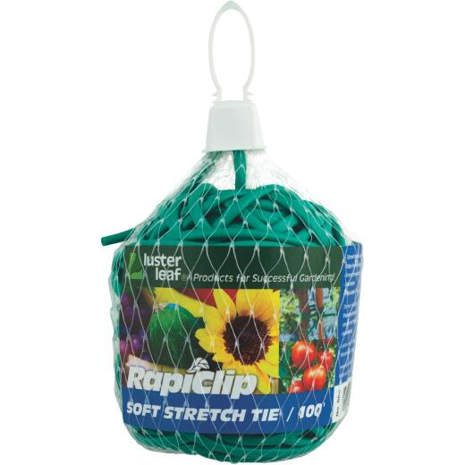 Rapiclip 100 Ft. Green Soft Stretch Plant Tie