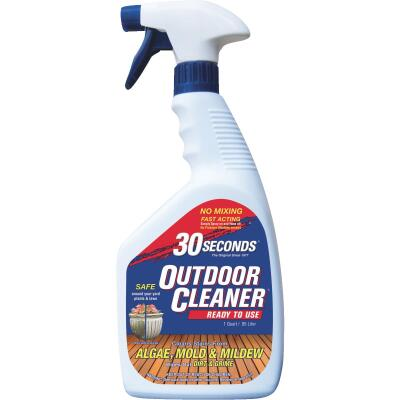 30 seconds Outdoor Cleaner 1 Qt. Ready To Use Trigger Spray Algae, Mold & Mildew Stain Remover