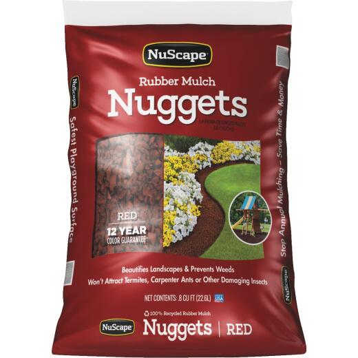 NuScape Red 0.8 Cu. Ft. Rubber Mulch Nuggets