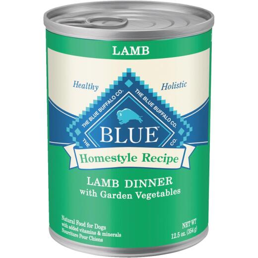 Blue Buffalo Homestyle Recipe Lamb & Garden Vegetables Adult Wet Dog Food, 12.5 Oz.