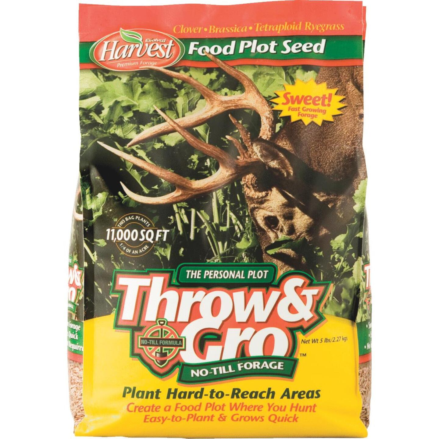 Evolved Harvest Throw & Gro 5 Lb. 11,000 Sq. Ft. Coverage Clover, Brassica, & Tetraploid Ryegrass Forage Seed Image 1