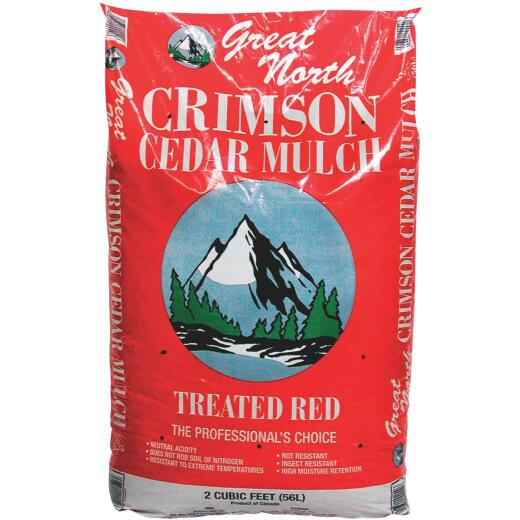 Great North 2 Cu. Ft. Dyed Red Cedar Mulch