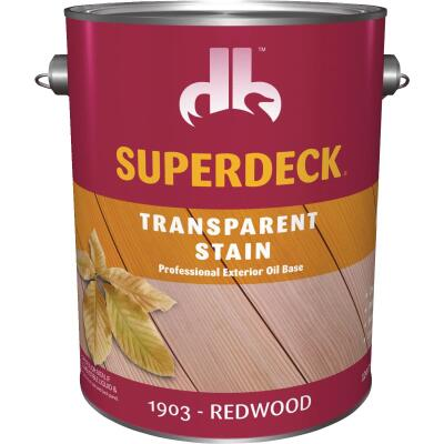 Duckback SUPERDECK Transparent Exterior Stain, Redwood, 1 Gal.