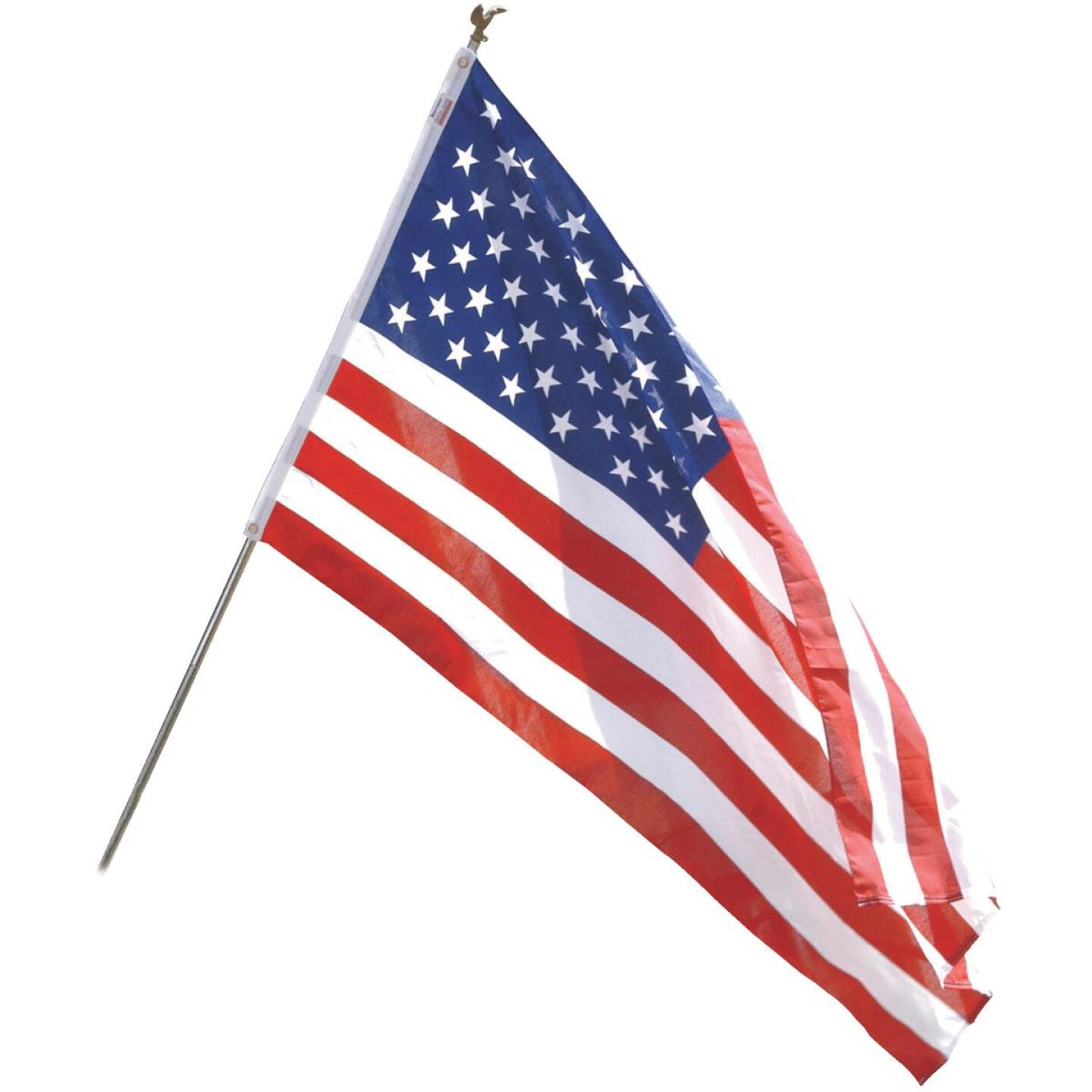 Valley Forge 3 Ft. x 5 Ft. Polycotton American Flag & 6 Ft. Pole Kit Image 1