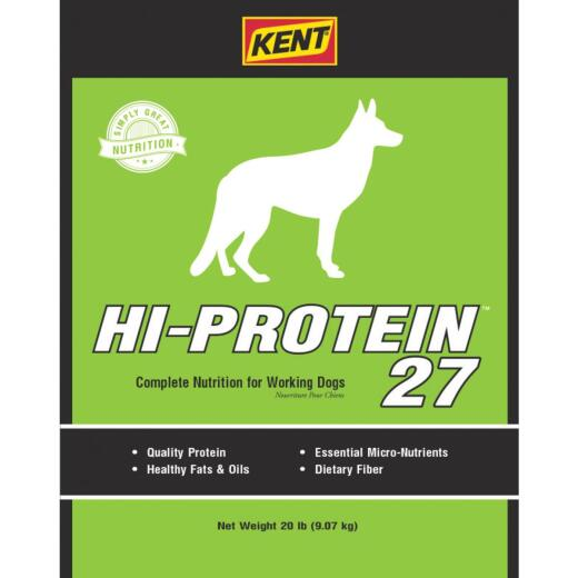 Kent Hi-Protein 27 20 Lb. Adult Dry Dog Food