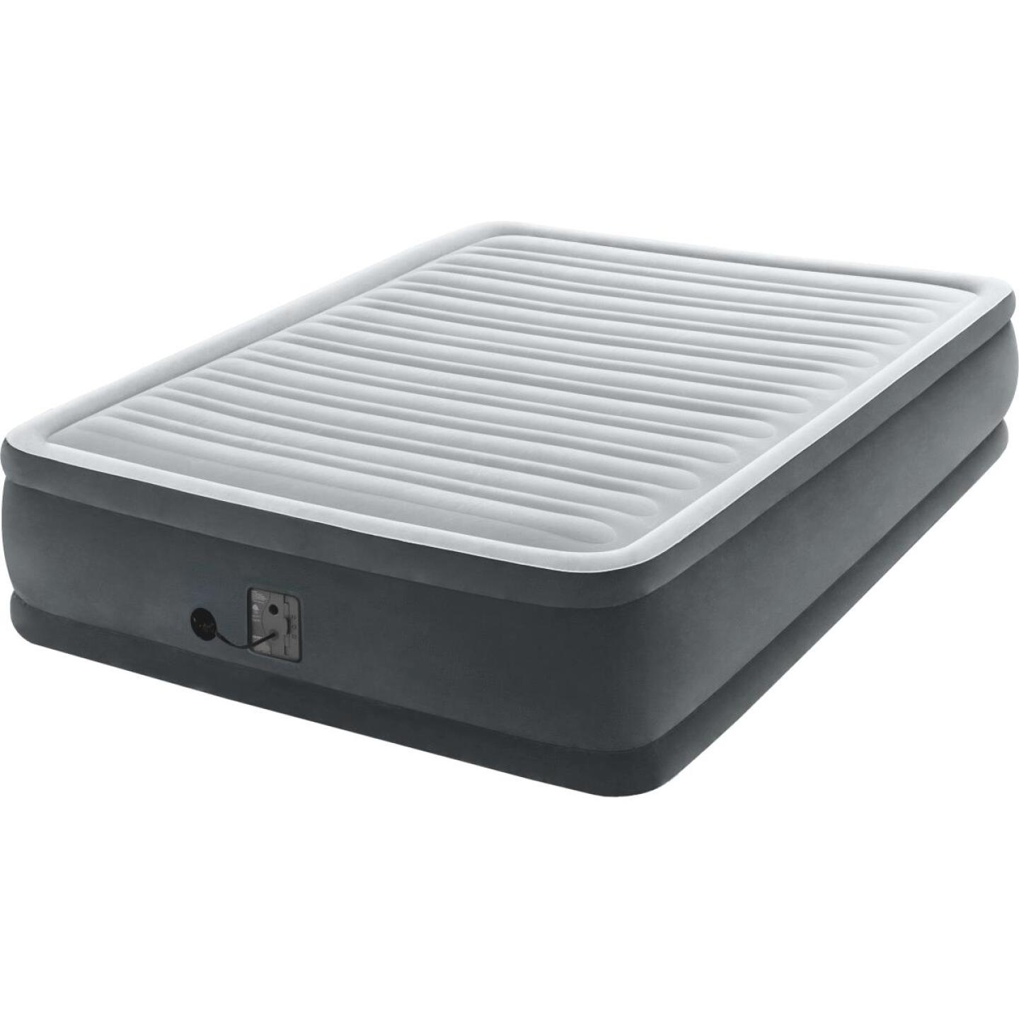 Intex Queen Size Air Mattress with Built-In Electric Pump Image 1